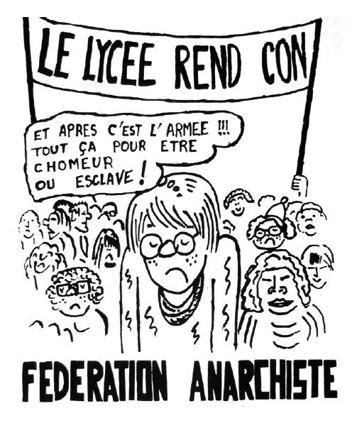Un dessin de Cabu pour la Fédération anarchiste