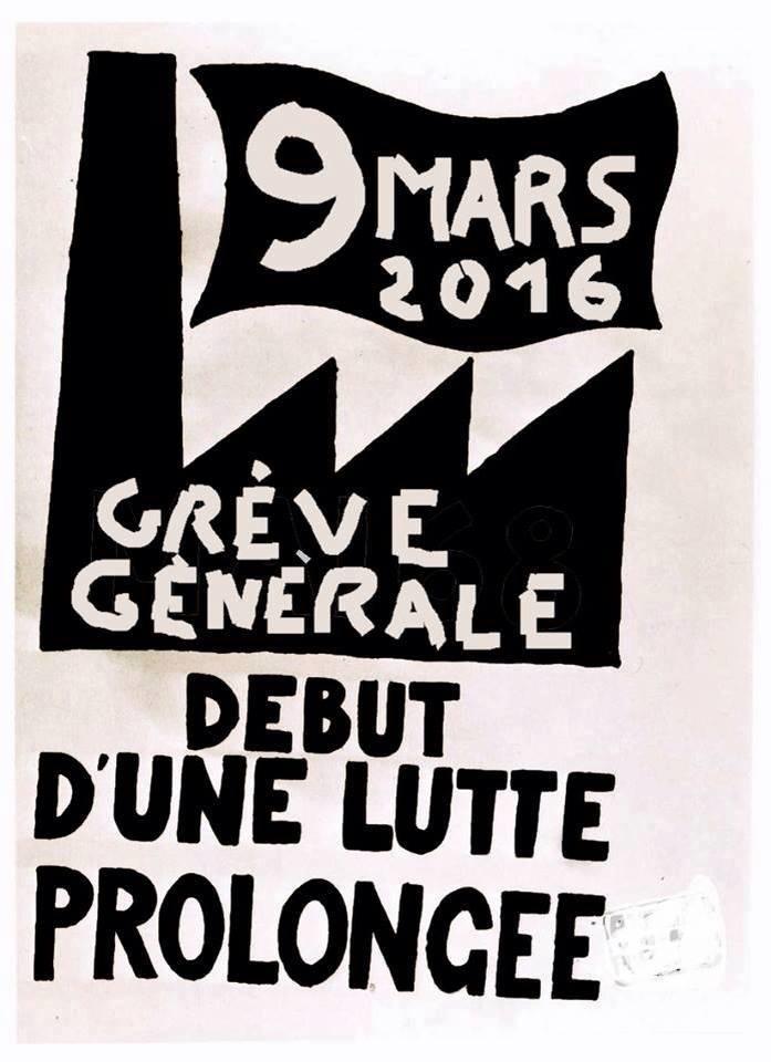 9 mars 2016 grève générale